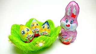 HAPPY EASTER Surprise egg set with Eggs and Easter Bunny