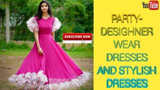 Party wear desighner dresses#s…