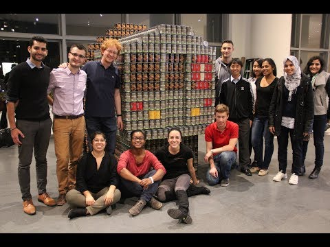 Thornton Tomasetti, Canstruction 2017: Riding Hunger Out on a Rail