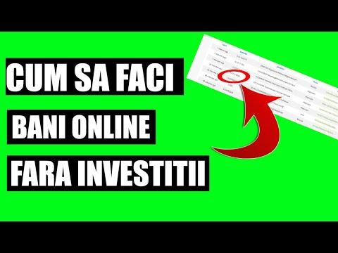 cum să câștigi bani pe internet fără investiții pentru începători)
