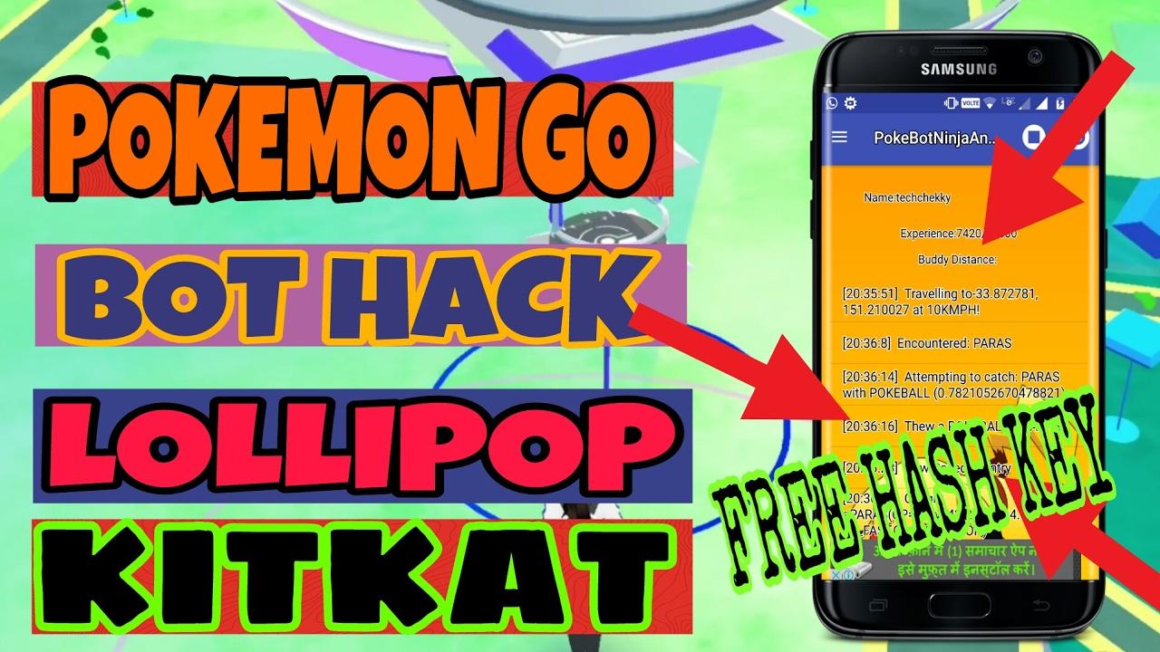 POKEMON GO 0 59 1 HACK | POKEBOT NINJA FOR ANDROID LOLLIPOP & KITKAT (NO  ROOT)