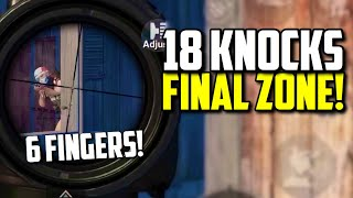 SIX FINGER claw player knocks 18 ENEMIES in FINAL CIRCLE! | PUBG Mobile
