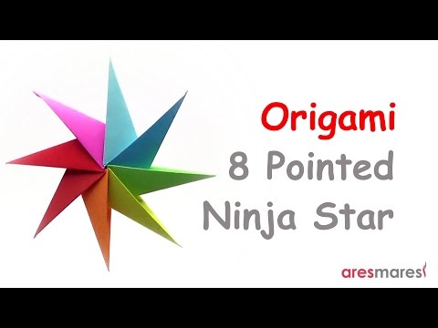 Origami Eight Pointed Ninja Star (easy - modular)