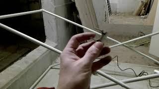 Сушилка для белья из пластиковых полипропиленовых труб своими руками  Часть 2