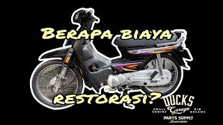 Before after restorasi honda astrea legenda by Duck's Garage #vlog8 garage life