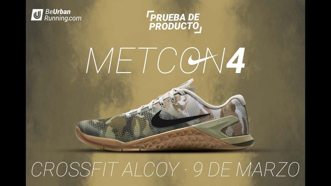 Incorporar tomar el pelo módulo  Prueba de las Nike Metcon 4 en Crossfit Alcoy - BeUrbanRunning - YouTube