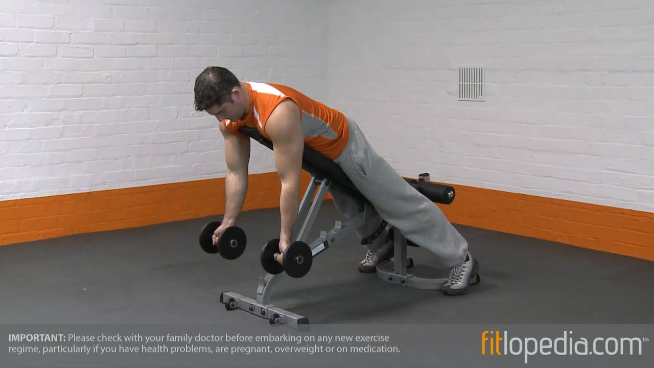 Incline Prone Dumbbell Spider Curl Youtube