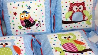 Бортики  с аппликацией  Совы своими руками Бортики в детскую кроватку