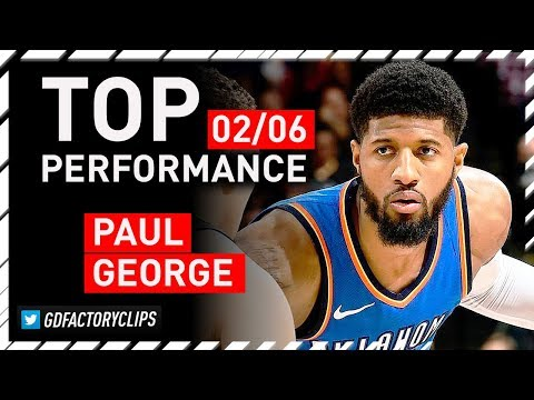 Paul George DESTROYS GS Warriors, Full Highlights - 38 Points, 6 Steals | 2018.02.06