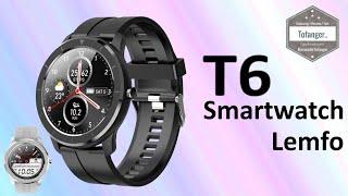 Lemfo T6 Smartwatch - Montre connectée T6 - App IBAND - IP67 - Unboxing