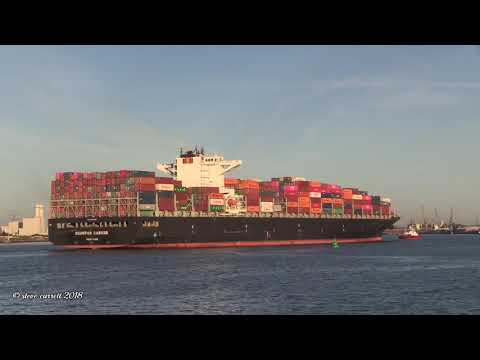 Container Ship SEASPAN GANGES arriving Southampton from Antwerp 24/09/18