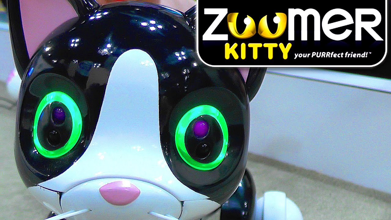 efe9a67ec67 Zoomer Kitty - Robot Cat Vision, Touch, Tremble, Lights and Purrs - YouTube