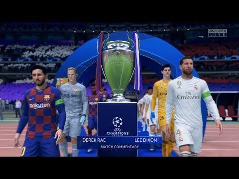 FIFA 20 - FC Barcelona vs Real Madrid - UEFA Champions League Final - Gameplay HD