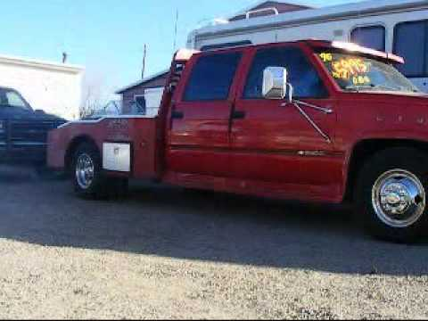 1996 Chevrolet Dually Flatbed Western Hauler Youtube