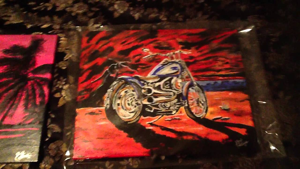 Acrylic Motorcycle Paintings