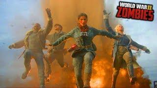 WW2 ZOMBIES - THE DARKEST SHORE EASTER EGG ENDING CUTSCENE! (Call of Duty WW2 Zombies)
