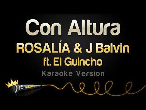 ROSALÍA & J Balvin - Con Altura Ft. El Guincho (Karaoke Version)