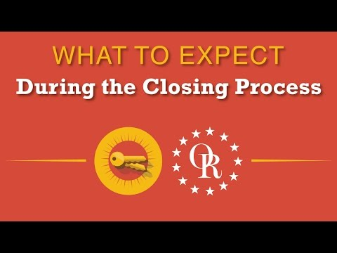 What to expect during the closing process.