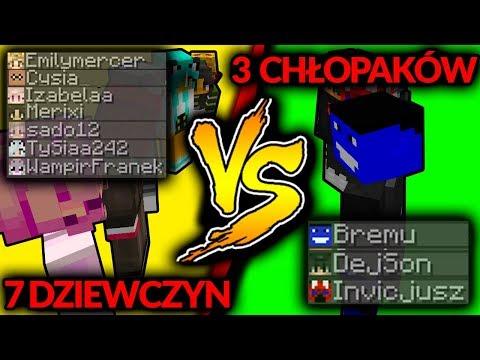 3 MĘŻCZYZN vs 7 DZIEWCZYN! - MINECRAFT BLOCKED IN COMBAT