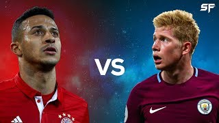 Thiago Alcantara Vs Kevin de Bruyne  Battle of the Midfielders 2018  Goals Passing  Assists  HD