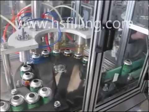 aerosol can filling sealing machine