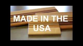 Personalized Striped Wood Cutting Boards