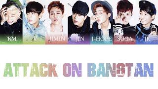 Download BTS (방탄소년단) - Attack On Bangtan (진격의 방탄) Color Coded Lyrics