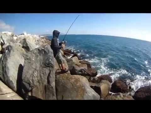Dana point jetty fishing youtube for Dana point fishing