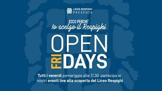 Open (Fri)days - Liceo Scientifico opzione Scienze Applicate