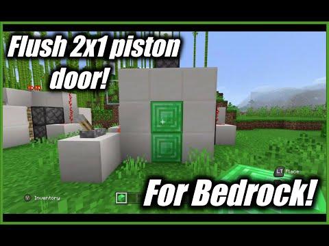 Flush 2x1 Piston Door (Bedrock!)