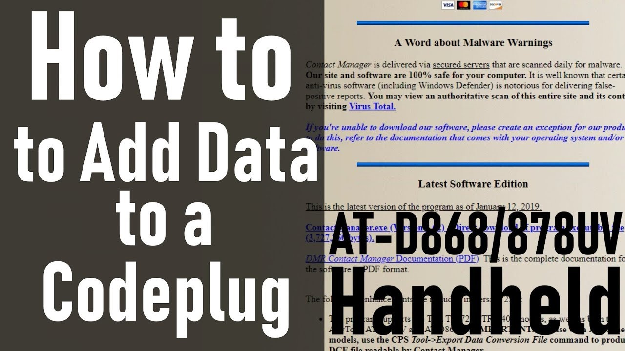 How to Add Data to a Codeplug with Contact Manager AT-D868/878UV