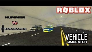 Licoln Navigator vs Hummer - Roblox Vehicle Simulator