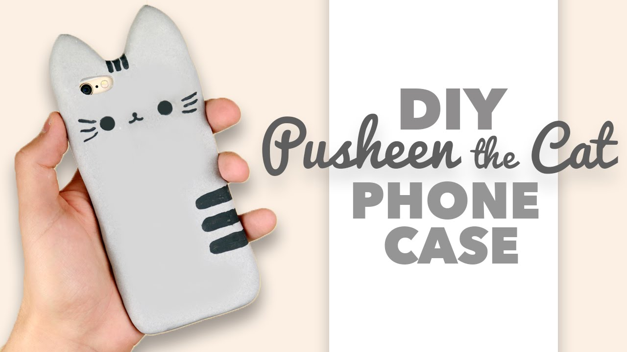 DIY : How to make a Pusheen the Cat Phone Case - Collab with DebbyArts ...