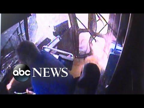 Texas City Bus Slams Into House [Surveillance Video]