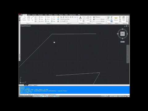 AutoCAD Tutorial; How to use the Fillet Command