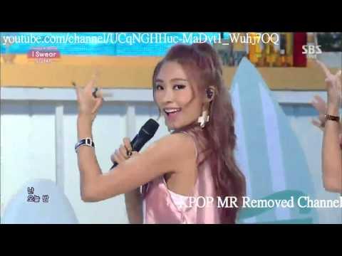 [MR Removed] 140831 SISTAR (씨스타) - I Swear (Comeback Stage)