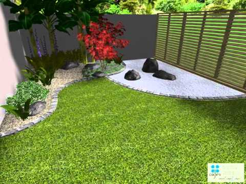 Petit jardin zen en vend e youtube for Photo amenagement jardin exterieur