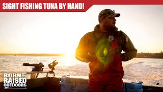 SIGHT FISHING TUNA BY HAND!!
