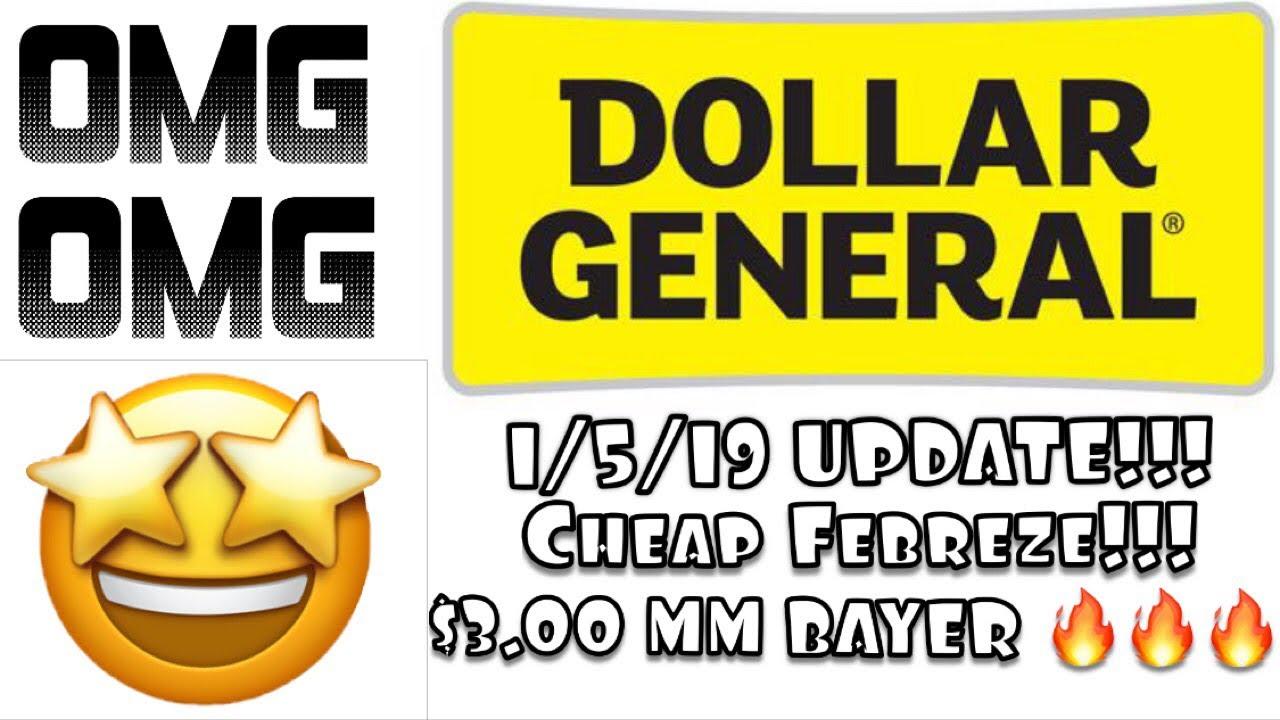 Update Dollar General Breakdowns 1 5 19 Super Febreze Free Plus 3 Moneymaker Bayer