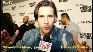 Devon Werkheiser At The Where S The Money Premiere On Fabuloustv Youtube