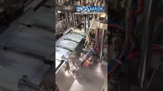 폐기 마스크 바디 슬라이스 마스킹 기계 생산 라인을 만…