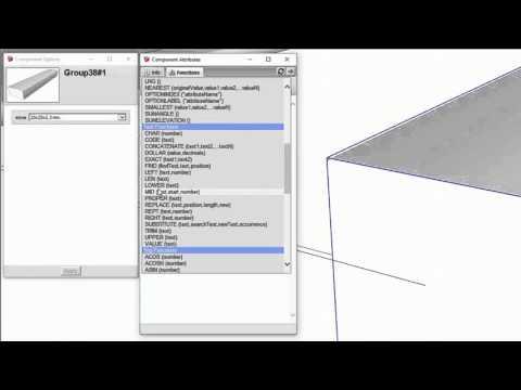 สร้างเหล็กกล่องเลือกขนาดได้ SketchUP Dynamic Components