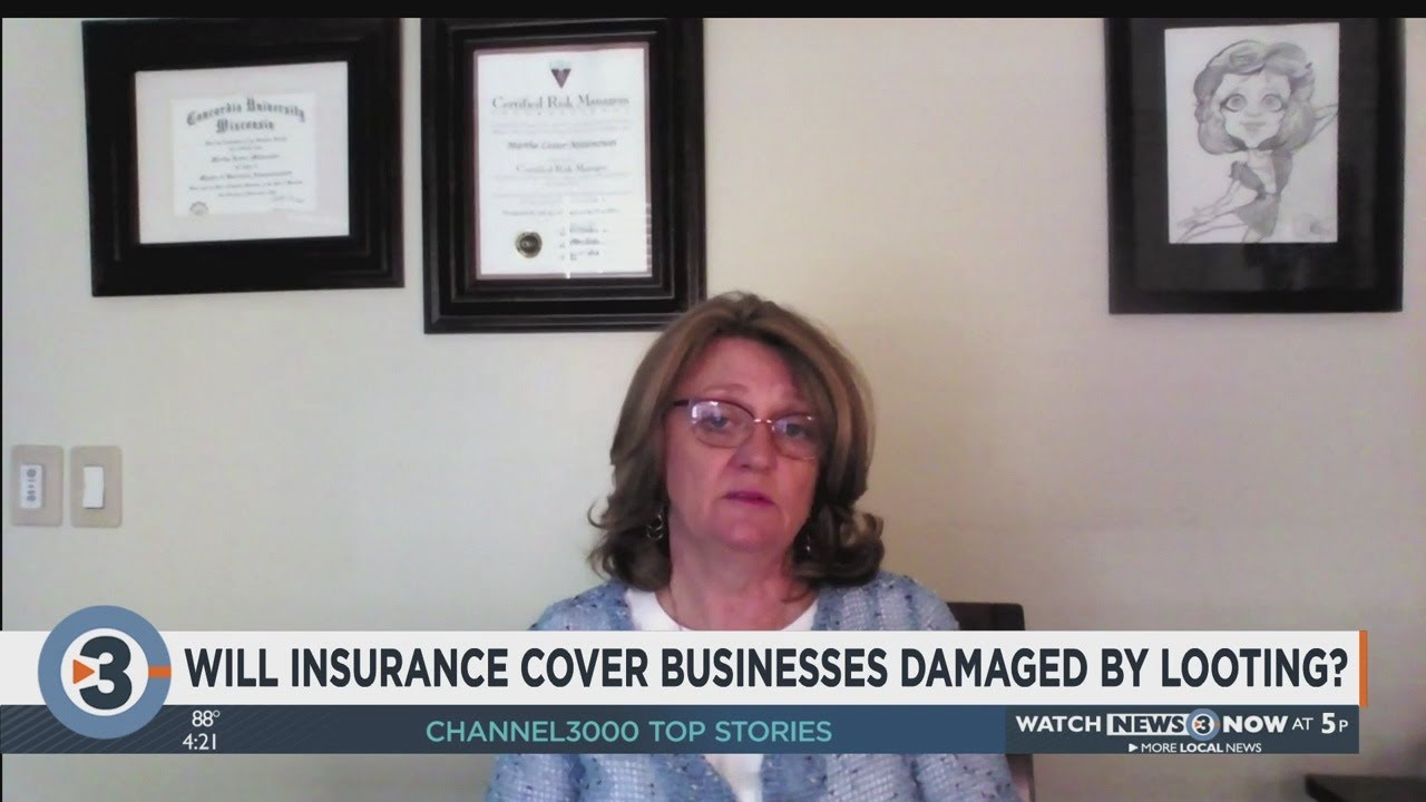 Will insurance cover businesses damaged by looting? - YouTube