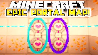 Minecraft Modded Map: EPIC PORTAL MAP! Portal Mod! - w/Preston & Vikkstar123!