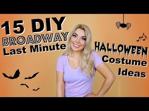 15 BROADWAY Halloween Costumes! | DIY Last Minute CHALLENGE