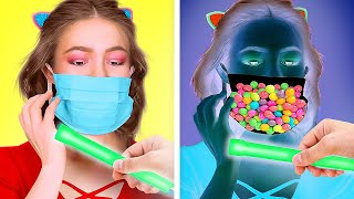 COOL HACKS TO SNEAK CANDIES! || How to Sneak Food with 123 Go! GOLD