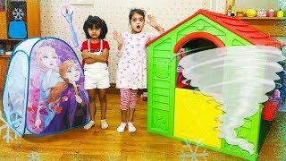 Cutie & Ashu Pretend Play with kids Playhouse Princess Tent Toy | Katy Cutie Show