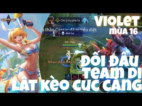 Violet - Tiệc Bãi Biển | Đối Đầu Team Cực Dị Lật Kèo Cực Căng | Liên Quân Mobile