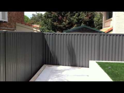 Colorbond Fence Grey Ridge Youtube