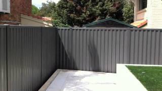 Colorbond Fence - Grey Ridge